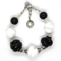 Bracelet Antica Murrina Venezia, Murano, Spheres Spiral, Black White image 2