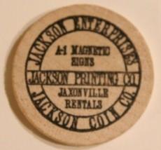 Vintage Jackson Printing Company Wooden Nickel Greensboro North Carolina... - $4.94