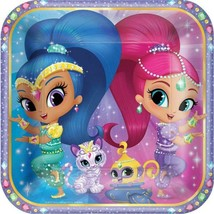 Shimmer and Shine Lunch Plates 8 Per Package Birthday Party Supplies NEW - $4.93