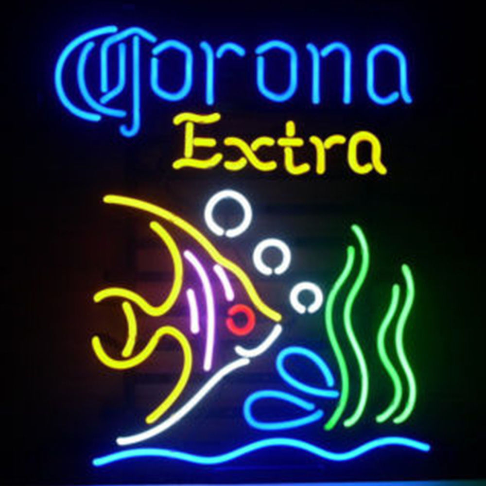 "New Corona Extra Tropical Fish Beer Neon Sign 24""x20"""