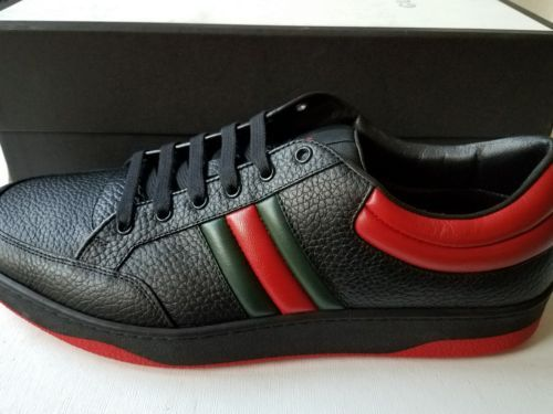 NEW Gucci Men's Leather Red/Black/Green
