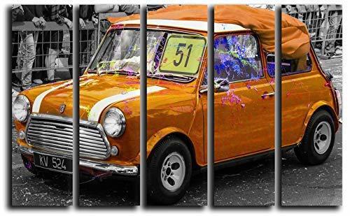 Big Set Vintage Car Mini Cooper Wall Art Decor Picture