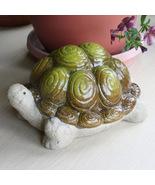 "Ceramic 7.5"" Tortoise Turtle Figurine Garden Decoration Sculpture - $7.95"