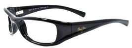 Maui Jim MJ105-02 Shaka Sunglasses Gloss Black Wraparound 55-19-120 FRAM... - $48.60