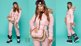 Womens Winter Overall + Gloves Bag Snowsuit Skisuit Outwear Outfit Skian... - $245.00