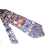 Museum Artifacts Generals of the Unions Motif 100% Handmade Silk Tie New NWT