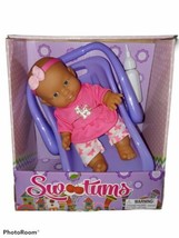 Uneeda Sweetums Baby Doll With Carrier Baby Bottle Ages 3yrs+ Christmas Gift New - $24.74
