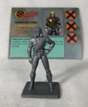 X-Men Under Siege Board Game Replacement Part LONGSHOT w Stat Card Pressman 1994 - £5.69 GBP