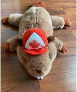 1995 Animal Kingdom Brown Beaver with Hat Plush Stuffed Animal Canada 18... - $9.49