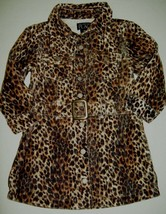 Children's Place Girls Dress Sz 18 Months Brown Leopard Wale Cordroy Casual - $21.77