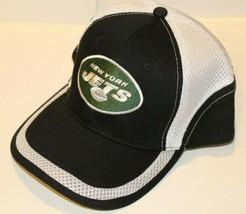 NWT NFL Team Apparel Baseball Hat - New York Jets Black With White Mesh - $19.99