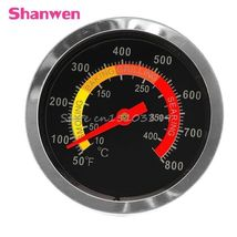Stainless Steel BBQ Smoker Grill Thermometer Temperature Gauge 50-800 De... - €10,56 EUR