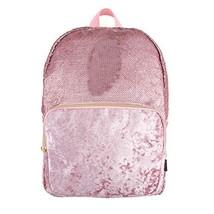 Style.Lab Fashion Angels Backpack-Pink Glitter/Velvet Pocket Magic Sequin Back P image 1