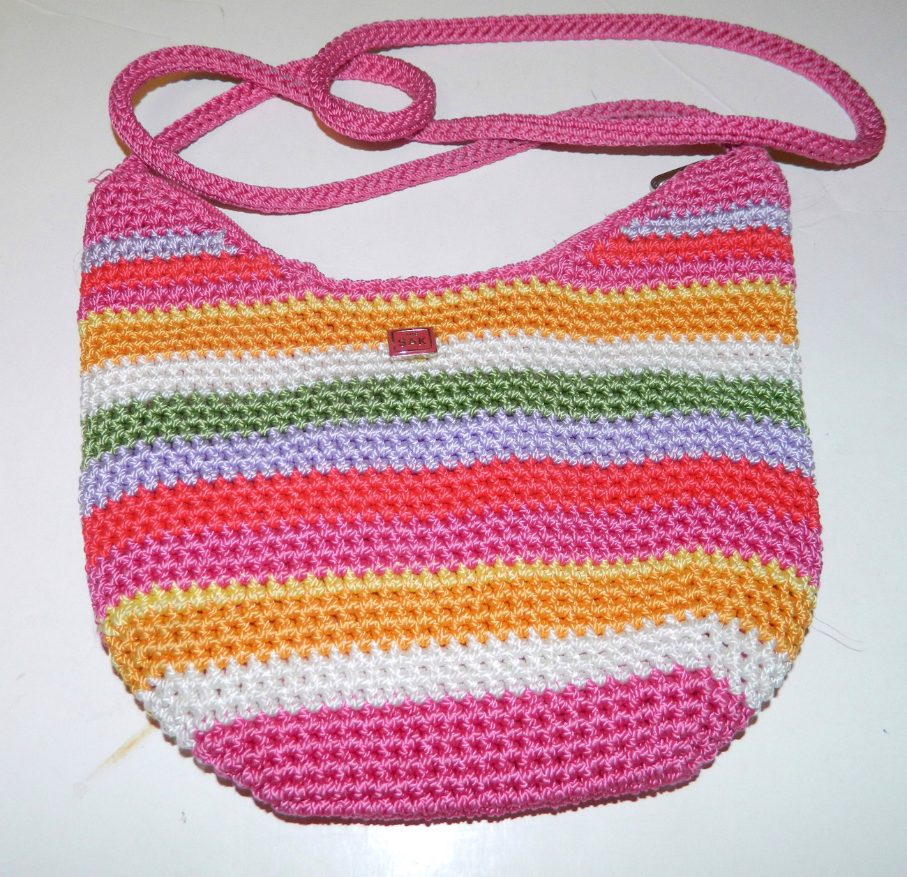 Primary image for The Sak Small Hobo Crossbody Mulit Colored Strip Crochet Purse / Handbag