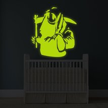 """( 65"""" x 71"""" ) Banksy Glowing Vinyl Wall Decal Death With Happy Smile Face / Glow - $268.15"""