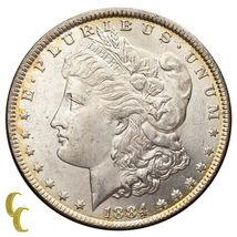 1884 Silver Morgan Dollar (Choice BU Condition) Full Mint Luster image 3