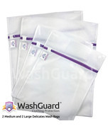 WashGuard Mesh Wash Bags for Laundry Protect Delicate Clothes & Underwea... - £11.57 GBP