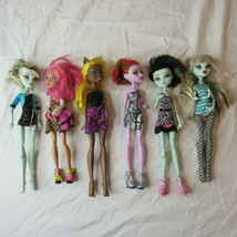 Lot of 7 Partial Dressed Monster High Dolls w Random Accessories Clothes - $99.99
