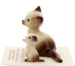 Hagen-Renaker Miniature Cat Figurine Siamese Mama and Kitten Chocolate Point image 4