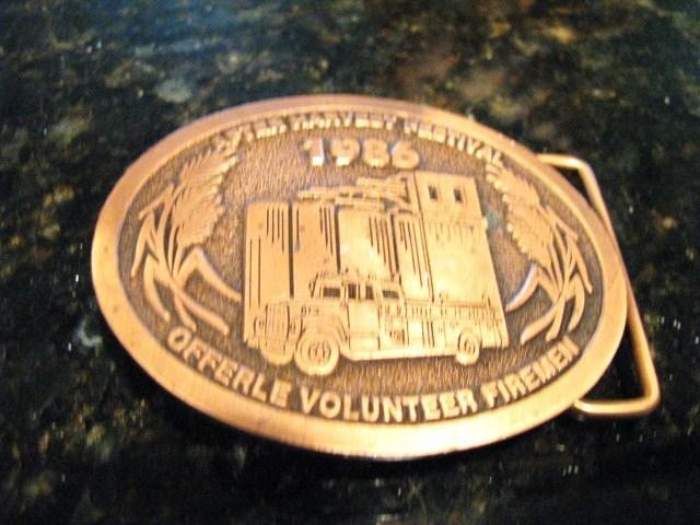 Vintage 1986 Copper After Harvest Festival Offerle Volunteer