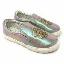 Gato & Jack Plata Metalizado Gold Unicornio Roana Niño Niña Slip-On Zapatos Nwt image 1
