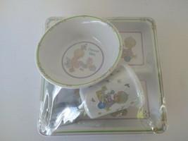 Vintage 1990' Precious Moments Precious Baby 5 Pc Melamine Set - Bowl Pl... - $33.29