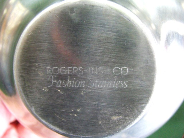 Vintage Rogers Stainless 3 Bowl Relish Tray Handle