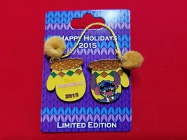 Disney Pin Happy Hoidays 2015 Resort Mittens  Polynesian Stitch LE 2000 - $29.99
