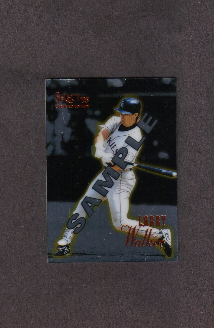 1995 Select Larry Walker Rare Promo Card