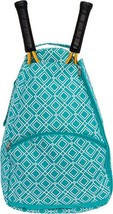 LISH Advantage Tennis Racket Backpack - Women's Geometric Diamond Print ... - $34.38