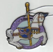 Disney  carousel horse metal ornament rare - $15.99