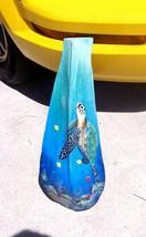 Sea Turtle hand painted Palm Tree Frond Nautical beach decor wall art to... - £40.12 GBP