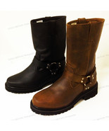Men's Harness Boots Motorcycle Biker Full Grain Leather Engineer Riding,... - $69.19+