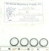 LOT OF 4 NEW ALL WORLD MACHINERY SUPPLY SER-20 O-RING SEALS SER20