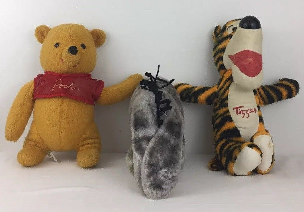 Sears Winnie the Pooh Tigger & Eeyore by J Swedlin Plush Toys Vintage 60s