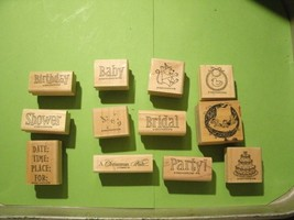 3#H    12 various Rubber Stamps  by STAMPIN UP - $8.88