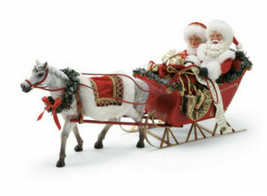 Department 56 Possible Dreams Santa's One Horse Open Sleigh. Figurine, NEW - $161.49