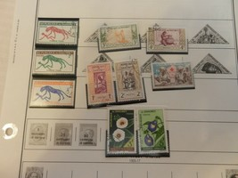 Lot of 10 Dahomey Stamps, Timbre Tax, Natives, Flowers, Red Cross - $9.89