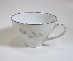 Noritake Pasadena Cup pattern number 6311 pink flower silver trim - $4.99
