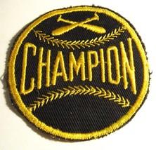 Baseball Champion Jacket Patch - Vintage Sports Letterman Softball Playe... - $19.79