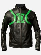 Men's Leather Jacket Ryan Reynolds Green Lantern Jacket - BNWT - $79.19+