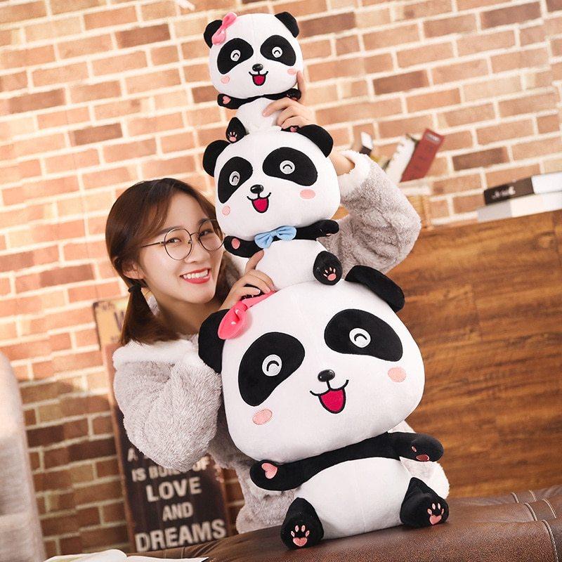 BabyBus 22/35/50cm Cute Panda Plush Toys Hobbies Cartoon Animal Stuffed Toy Doll image 4