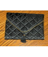 Anne Klein Parfum Black Quilted Organizer Bag Cosmetics Travel Bag Tote ... - $14.00