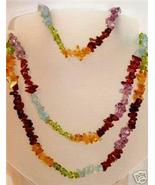 MULTICOLOR AMETHYST GARNET PERIDOT AQUAMARINE NECKLACE - $0.00