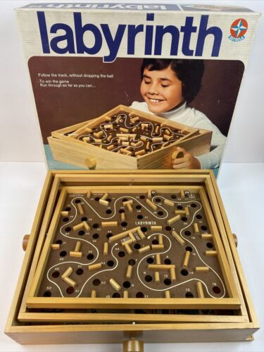 Primary image for Vintage Wooden Labyrinth Board Game Estrella