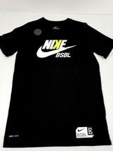 Nike Dri-Fit Boys Youth T-Shirt Baseball BSBL Size Medium Black Athletic Cut New - $14.46