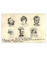 Wole Dam House vintage comic postcard 1907 - $7.00