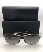 Polarized PERSOL Sunglasses 7649-S 1068/M3 53-18 145 Silver w/Grey Gradient Lens - $399.98