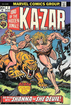 Ka-Zar Lord of the Hidden Jungle Comic Book #2, Marvel 1974 VERY FINE+ - $9.74