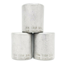 """LOT OF 3 NEW GENERIC 304-150#-3/4 COUPLINGS, 304 STAINLESS STEEL, 150#, 3/4"""""""